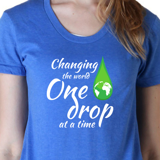 Changing the World One Drop at a Time t-shirt